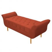 Recamier Estofado Ari 195 cm King Size Suede Terracota - ADJ Decor