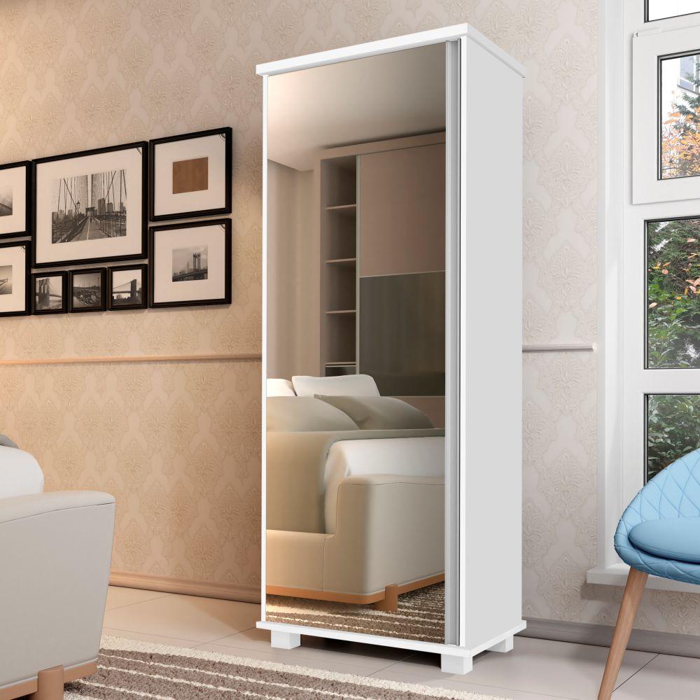 Armário Multiuso Sophia 1 Porta Branco - ADJ DECOR