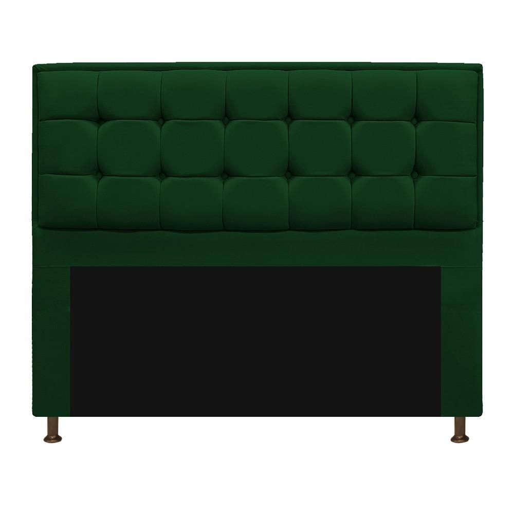 Cabeceira Copenhague 140 cm Casal Suede Verde - ADJ Decor