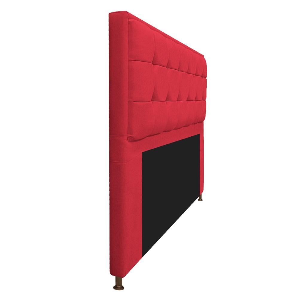 Cabeceira Copenhague 140 cm Casal Suede Vermelho - ADJ Decor