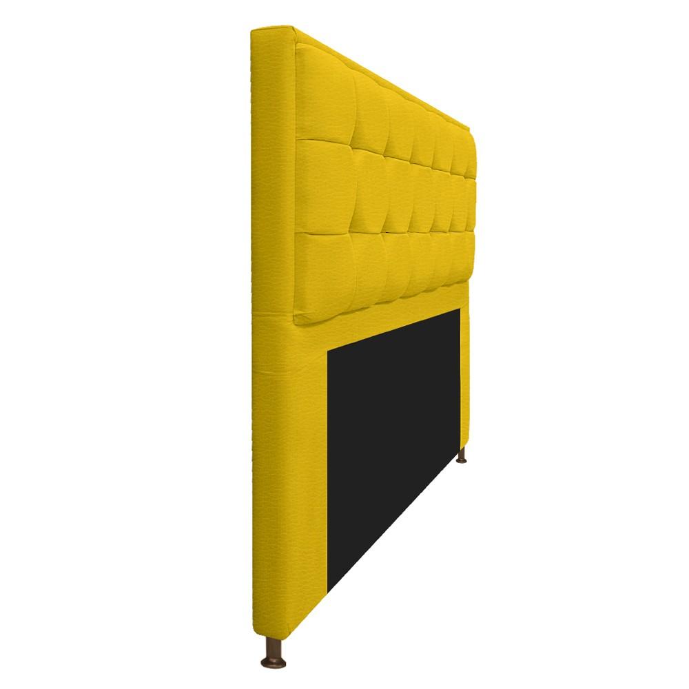 Cabeceira Copenhague 195 cm King Size Corano Amarelo - ADJ Decor