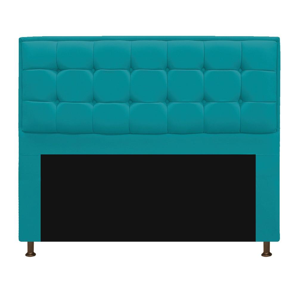 Cabeceira Copenhague 195 cm King Size Suede Azul Turquesa - ADJ Decor