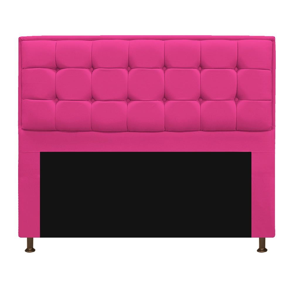 Cabeceira Copenhague 195 cm King Size Suede Pink - ADJ Decor
