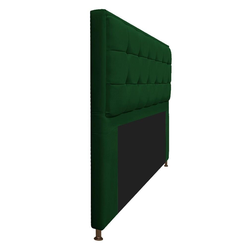 Cabeceira Copenhague 195 cm King Size Suede Verde - ADJ Decor