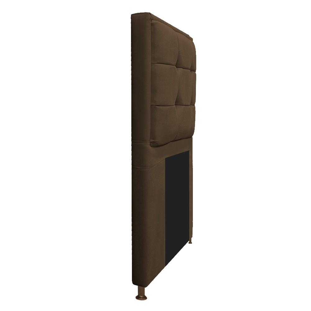 Cabeceira Copenhague 90 cm Solteiro Suede Marrom - ADJ Decor