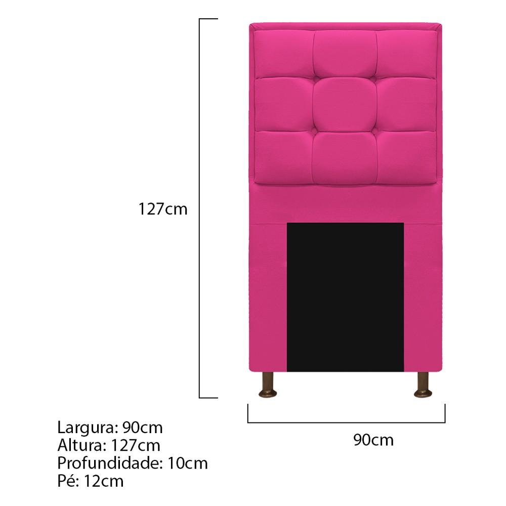 Cabeceira Copenhague 90 cm Solteiro Suede Pink - ADJ Decor