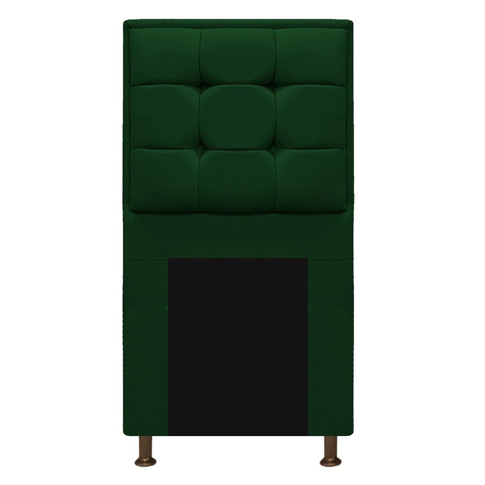 Cabeceira Copenhague 90 cm Solteiro Suede Verde - ADJ Decor