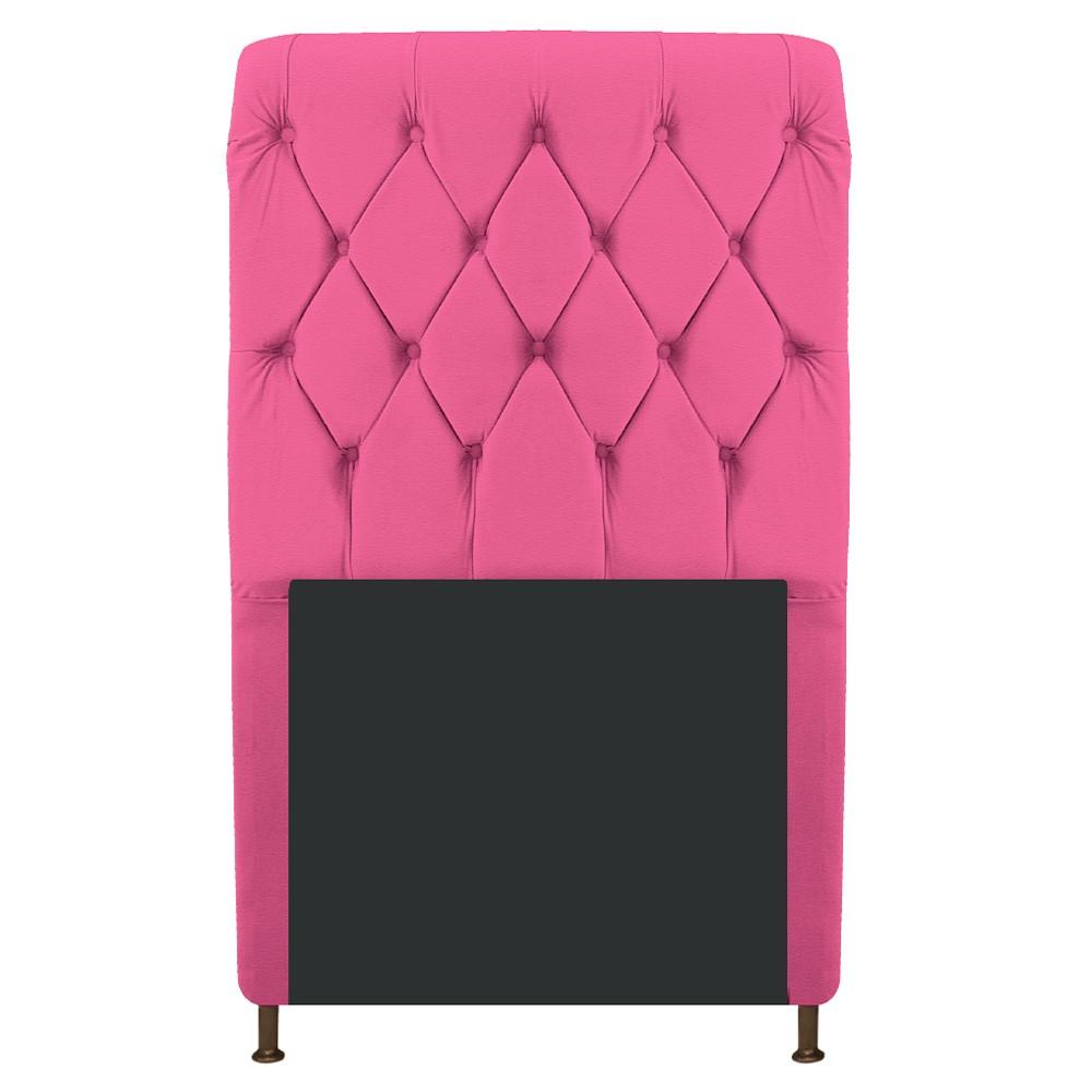 Cabeceira Estofada Cristal 100 cm Solteiro Com Capitonê Corano Pink - ADJ Decor