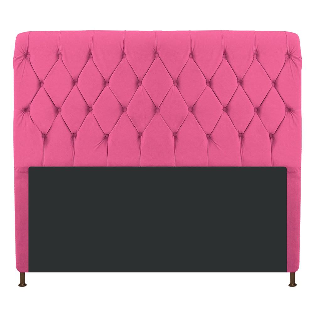 Cabeceira Estofada Cristal 195 cm King Size Com Capitonê Corano Pink - ADJ Decor