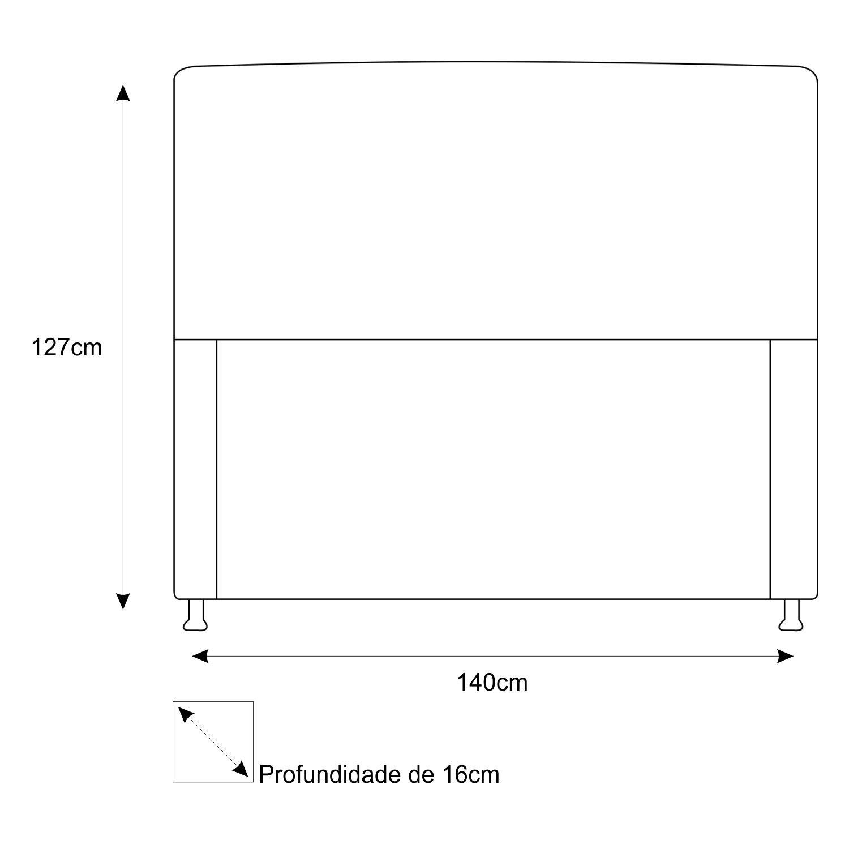 Cabeceira Estofada Dama 140 cm Casal Com Strass  Corano Roxo - ADJ Decor