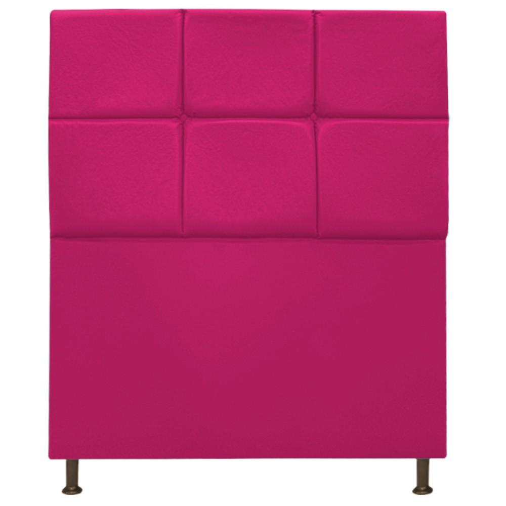 Cabeceira Estofada Damares 100 cm Solteiro Com Botonê Suede Pink - ADJ Decor