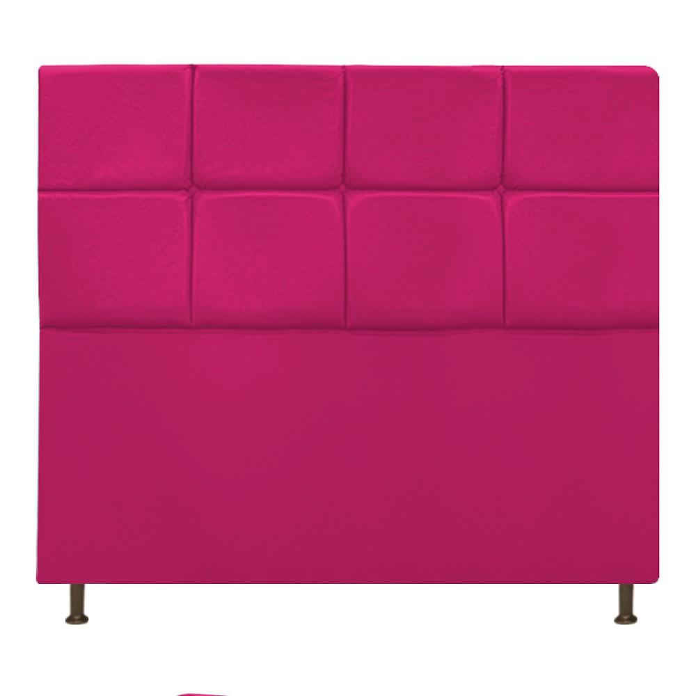 Cabeceira Estofada Damares 160 cm Queen Size Com Botonê Suede Pink - ADJ Decor