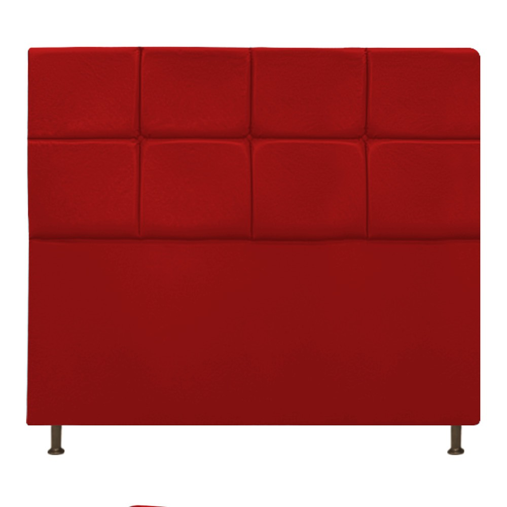 Cabeceira Estofada Damares 160 cm Queen Size Com Botonê Suede Vermelho - ADJ Decor
