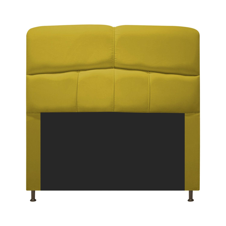 Cabeceira Estofada Donna 100 cm Solteiro Suede Amarelo - ADJ Decor