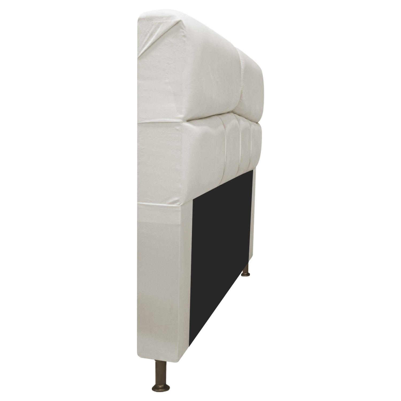 Cabeceira Estofada Donna 100 cm Solteiro Suede Bege - ADJ Decor