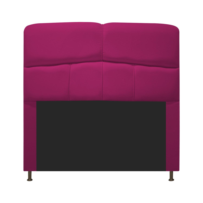 Cabeceira Estofada Donna 100 cm Solteiro Suede Pink - ADJ Decor
