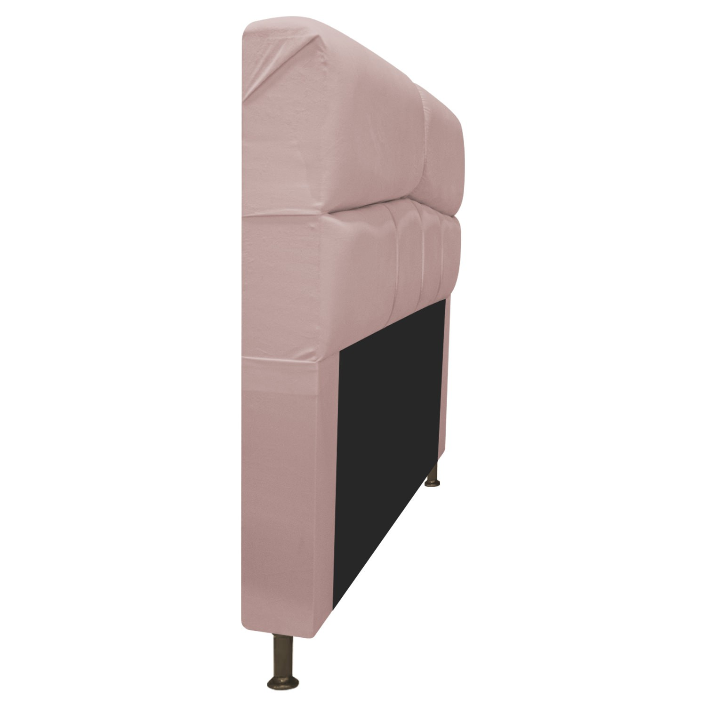 Cabeceira Estofada Donna 100 cm Solteiro Suede Rosê - ADJ Decor