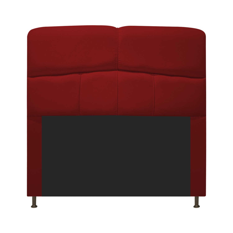 Cabeceira Estofada Donna 100 cm Solteiro Suede Vermelho - ADJ Decor