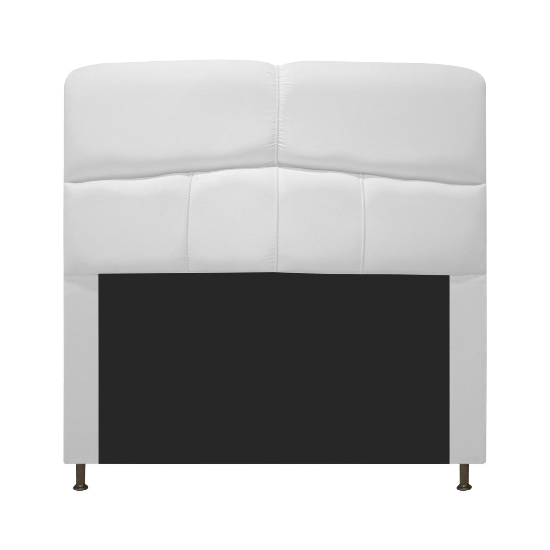 Cabeceira Estofada Donna 90 cm Solteiro  Suede Branco - ADJ Decor