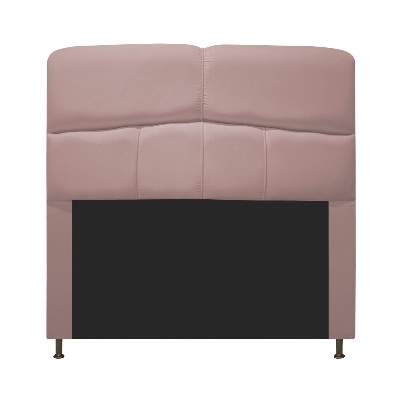 Cabeceira Estofada Donna 90 cm Solteiro  Suede Rosê - ADJ Decor