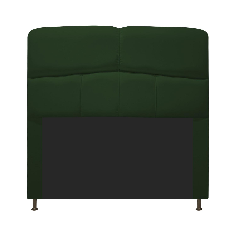 Cabeceira Estofada Donna 90 cm Solteiro  Suede Verde - ADJ Decor