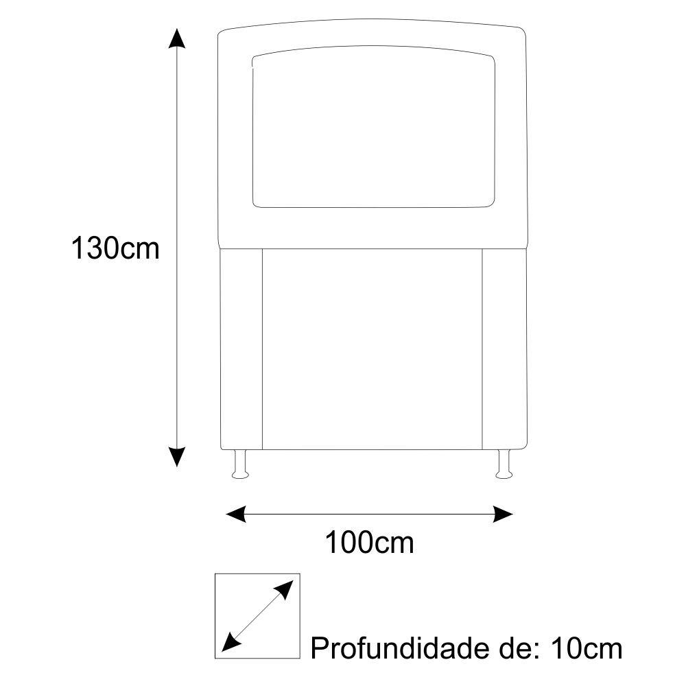 Cabeceira Estofada Geovana 100 cm Solteiro Com Capitonê Suede Branco - ADJ Decor