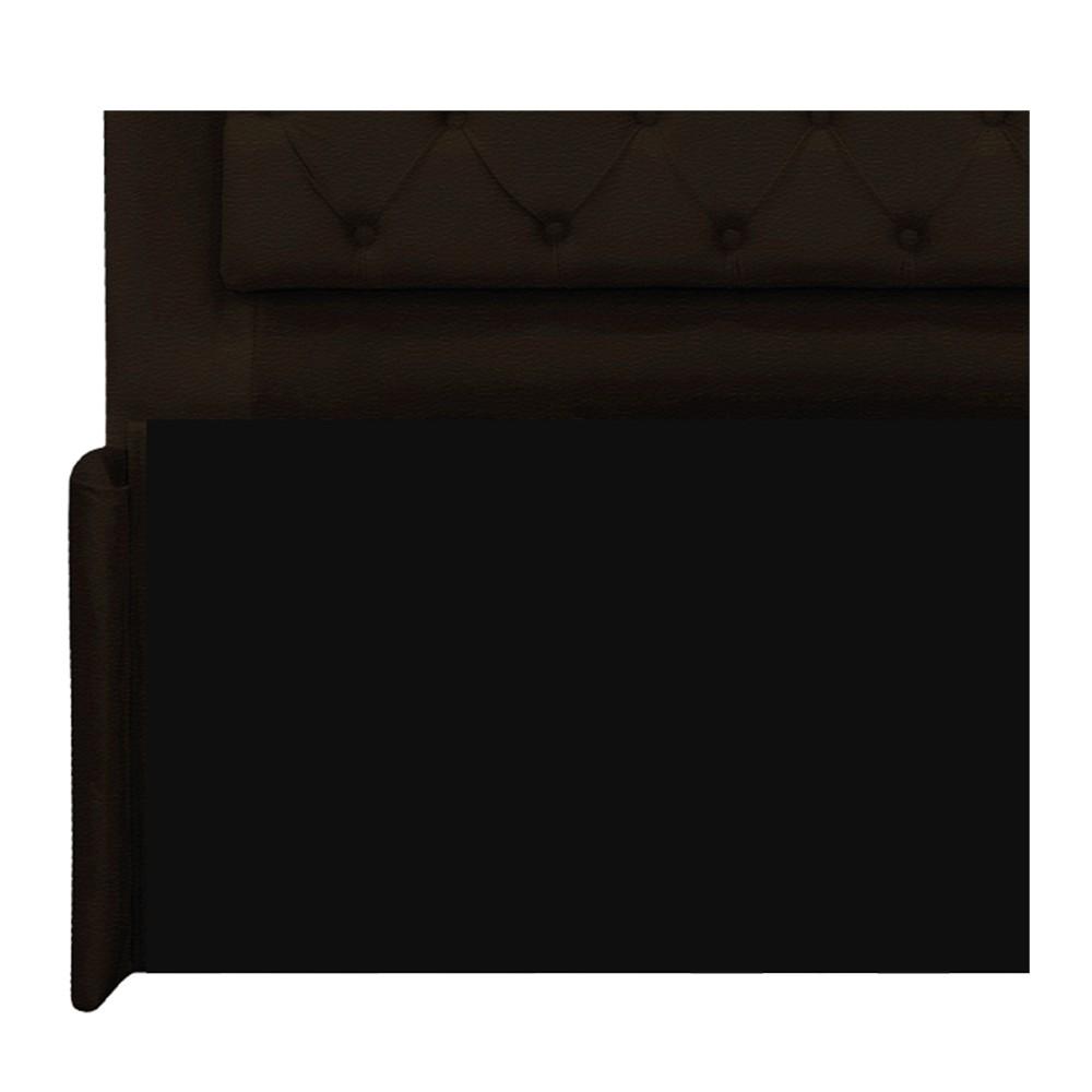 Cabeceira Estofada Laguna 140 cm Casal Com Capitonê Corano Marrom - ADJ Decor