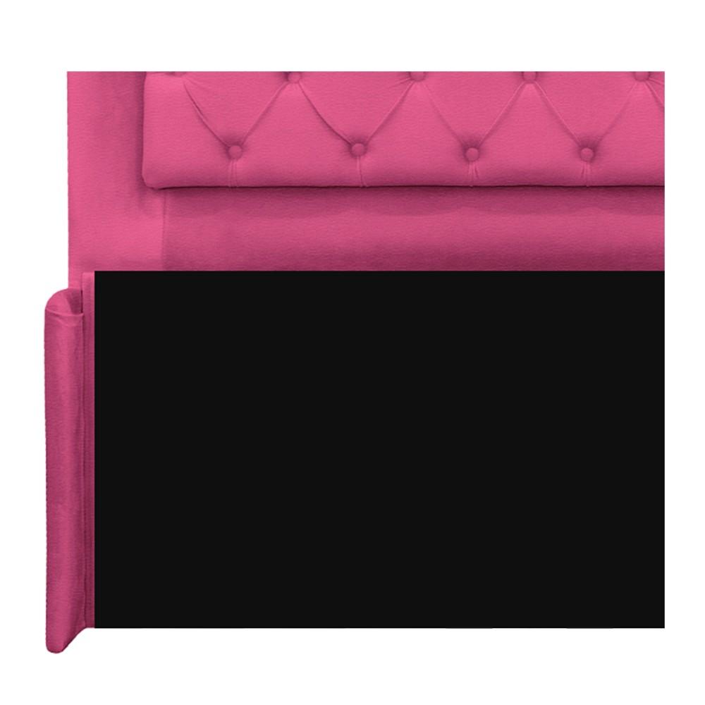 Cabeceira Estofada Laguna 140 cm Casal Com Capitonê Corano Pink - ADJ Decor