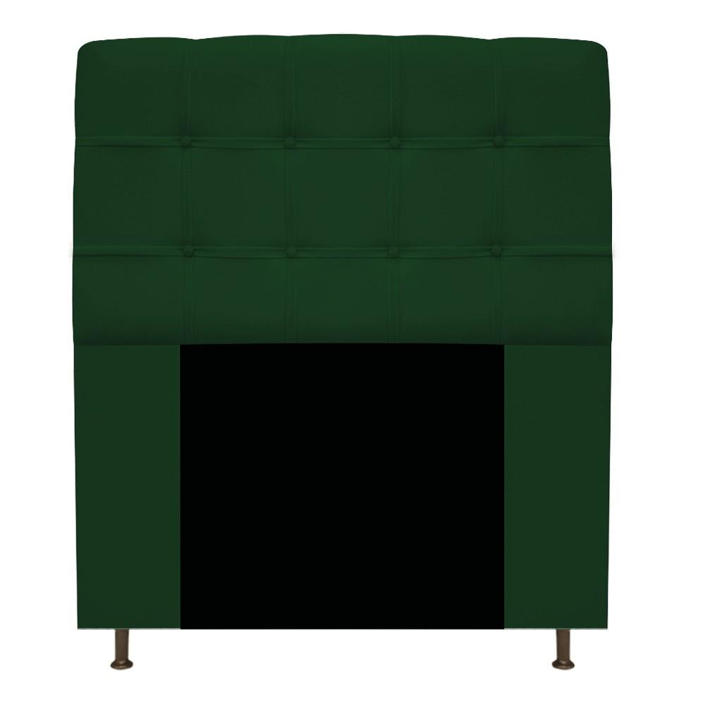 Cabeceira Estofada Mel 90 cm Solteiro Com Botonê  Suede Verde - ADJ Decor