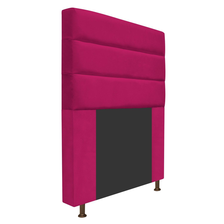 Cabeceira Estofada Turim 100 cm Solteiro Suede Pink - ADJ Decor