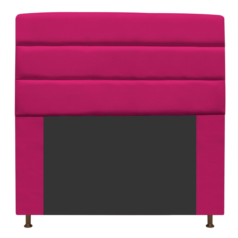 Cabeceira Estofada Turim 195 cm King Size Suede Pink - ADJ Decor