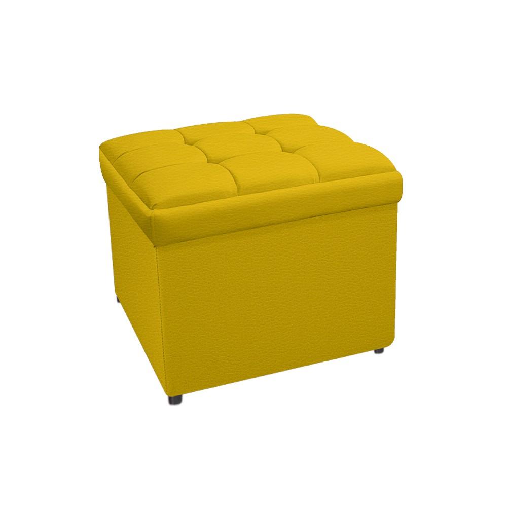 Calçadeira Copenhague 100 cm Solteiro Corano Amarelo - ADJ Decor