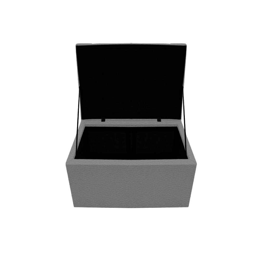 Calçadeira Copenhague 100 cm Solteiro Corano Cinza - ADJ Decor