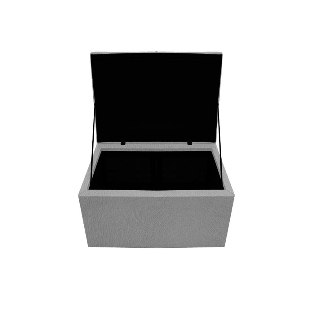 Calçadeira Copenhague 100 cm Solteiro Suede Cinza - ADJ Decor
