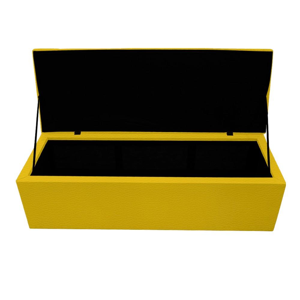 Calçadeira Copenhague 160 cm Queen Size Corano Amarelo - ADJ Decor
