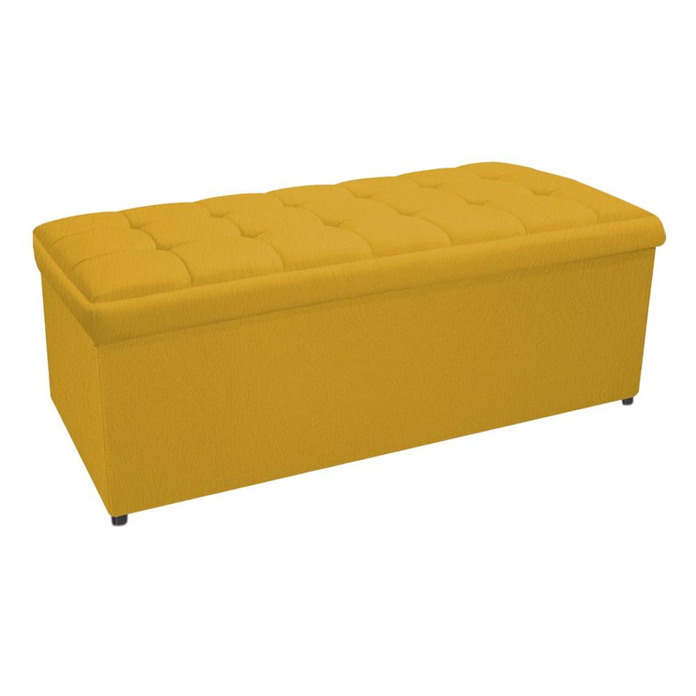 Calçadeira Copenhague 160 cm Queen Size Suede Amarelo - ADJ Decor