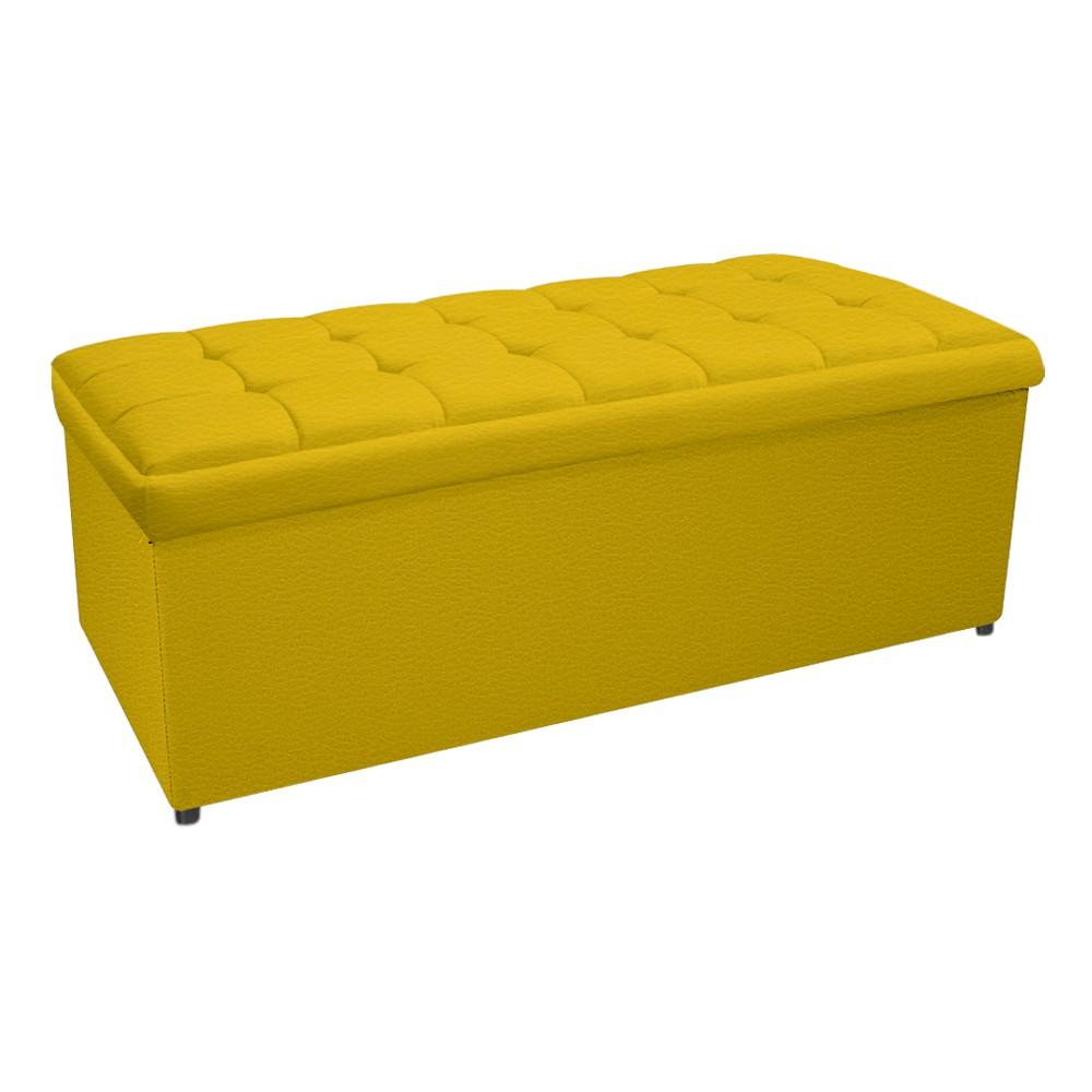 Calçadeira Copenhague 195 cm King Size Corano Amarelo - ADJ Decor