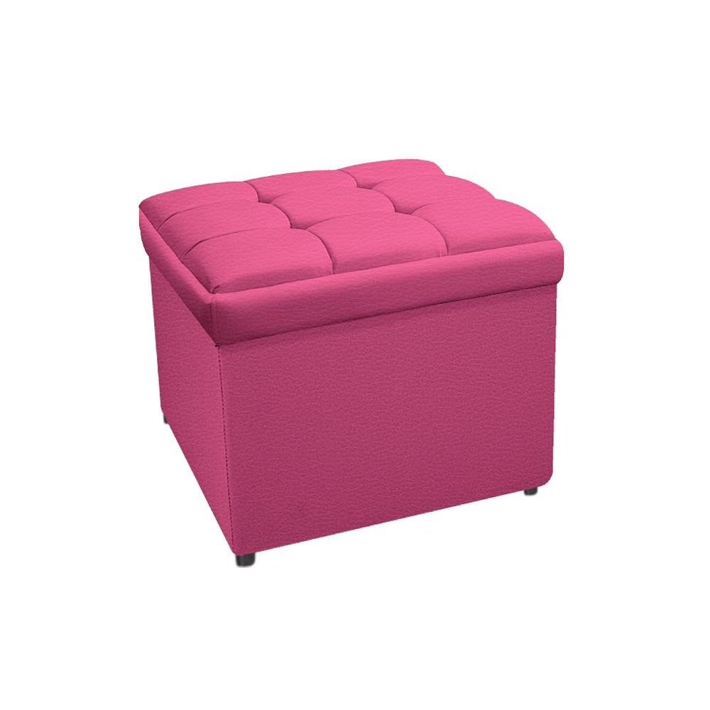 Calçadeira Copenhague 90 cm Solteiro Corano Pink - ADJ Decor