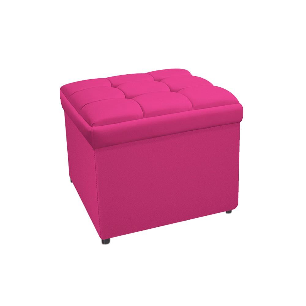 Calçadeira Copenhague 90 cm Solteiro Suede Pink - ADJ Decor