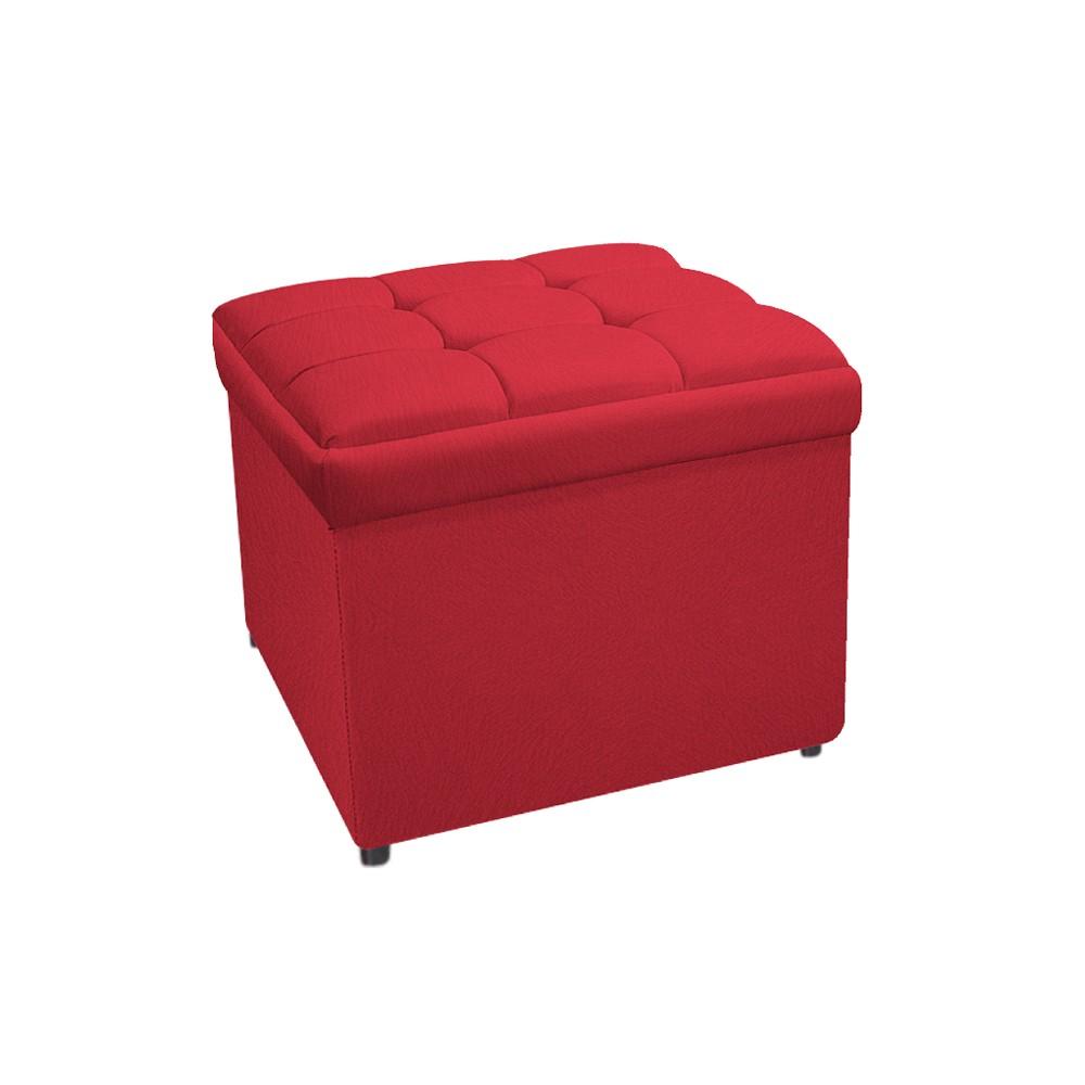 Calçadeira Copenhague 90 cm Solteiro Suede Vermelho - ADJ Decor