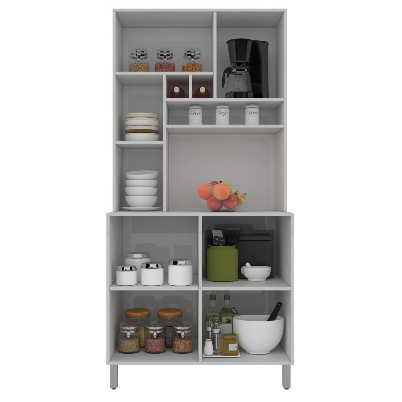 Cozinha Compacta Jade 5 Portas Branco - ADJ DECOR