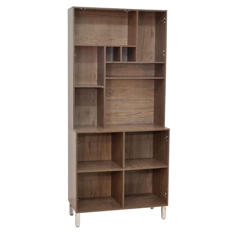 Cozinha Compacta Jade 5 Portas Castanho/Avelã - ADJ DECOR