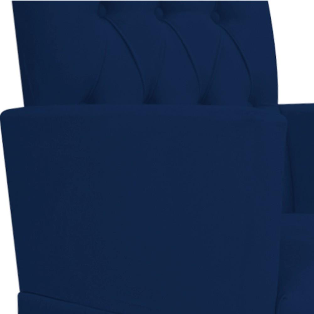 kit 02 Poltronas Fernanda Palito Mel Suede Azul Marinho - ADJ Decor