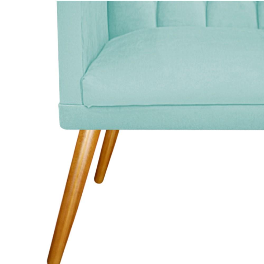 kit 02 Poltronas Fernanda Palito Mel Suede Azul Tiffany - ADJ Decor