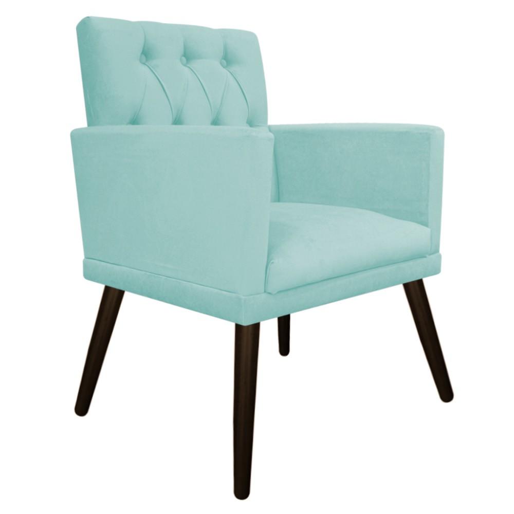 kit 02 Poltronas Fernanda Palito Tabaco Suede Azul Tiffany - ADJ Decor