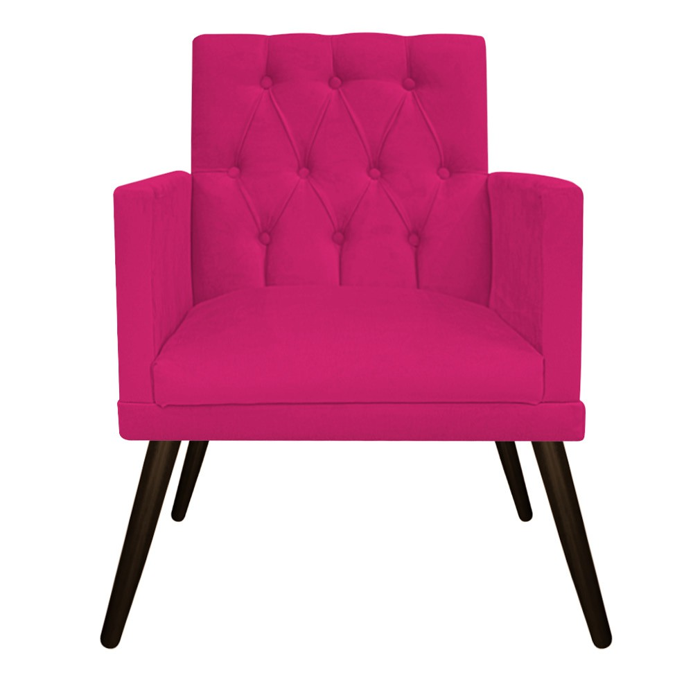 kit 02 Poltronas Fernanda Palito Tabaco Suede Pink - ADJ Decor