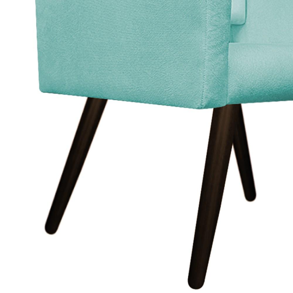 kit 02 Poltronas Gênesis Palito Tabaco Suede Azul Tiffany - ADJ Decor