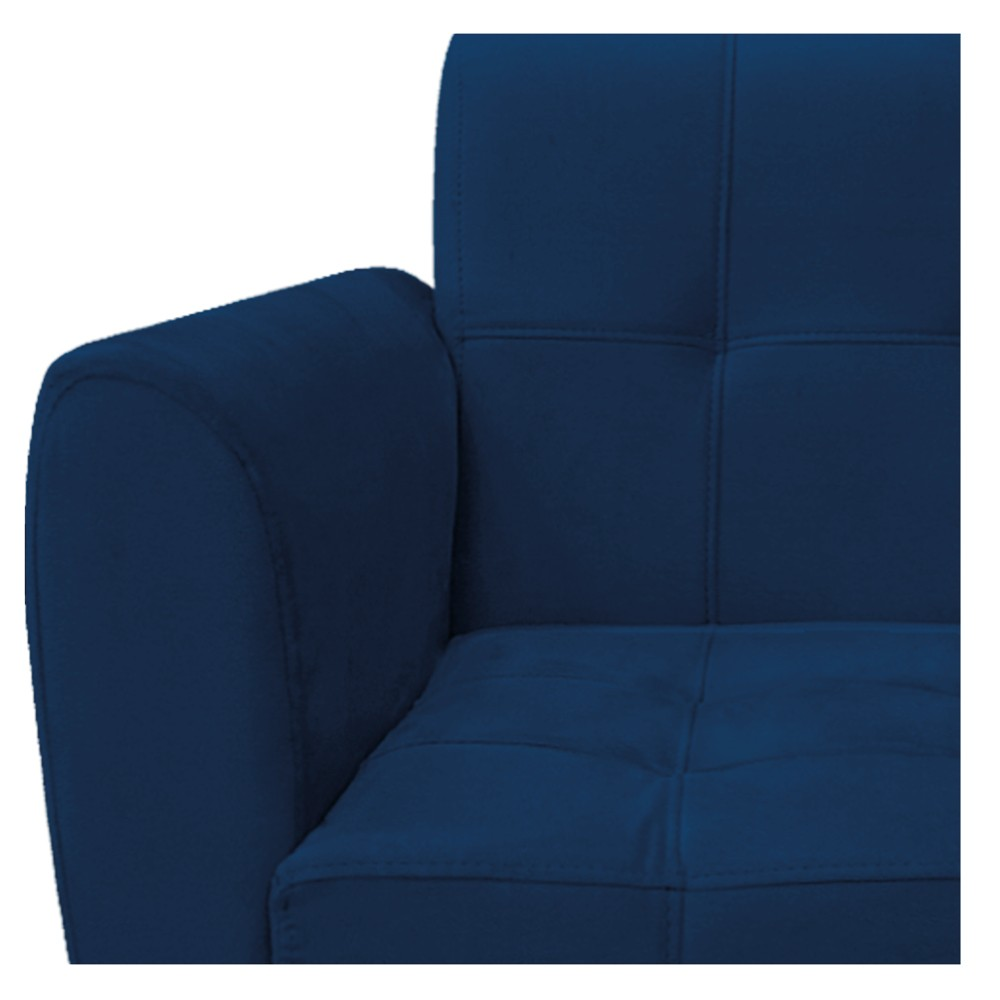 kit 02 Poltronas Stella Palito Mel Suede Azul Marinho - ADJ Decor