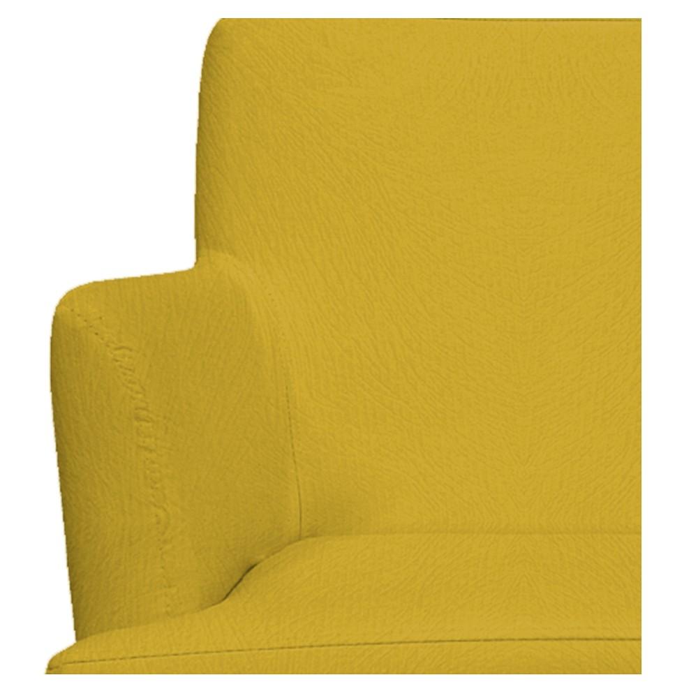 kit 02 Poltronas Vitória Suede Amarelo - ADJ Decor