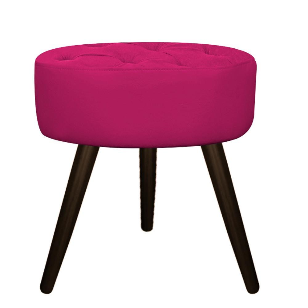Kit 02 Puffs Fernanda Palito Tabaco Suede Pink - ADJ Decor